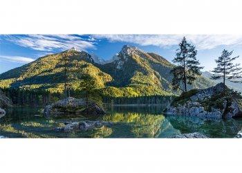 Hintersee gegen Hochkalter (2607m), Ramsau, Oberbayern, Bayern, Deutschland