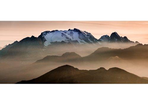 Blick von Lagazuoi Zuflucht, Marmolada Gletscher, Gran, Vernel und Col di Lana, Cortina d'Ampezzo